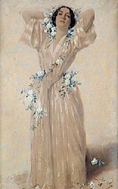 Винсент Видаль. Портрет госпожи А.Сабатье