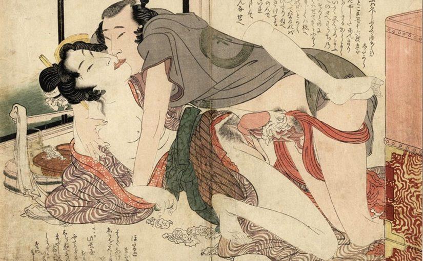Культ огромного члена: японские эротические рисунки сюнга (18+)